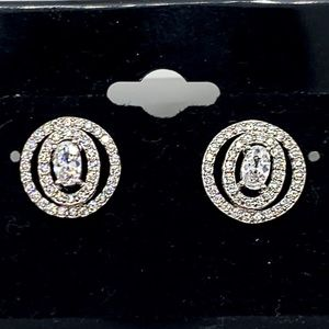 Jewelry - 925 STERLING SILVER BEAUTIFUL JEWELED EARRINGS